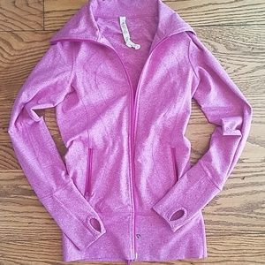 Lululemon pink zip up